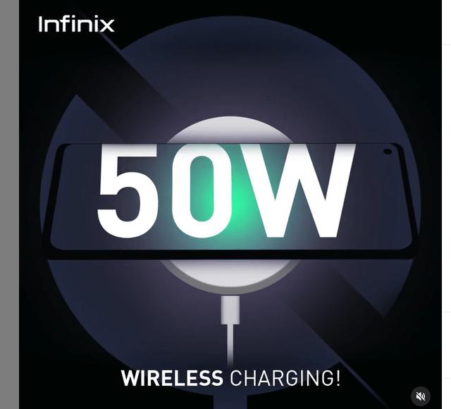 50W Wireless Charging Infinix