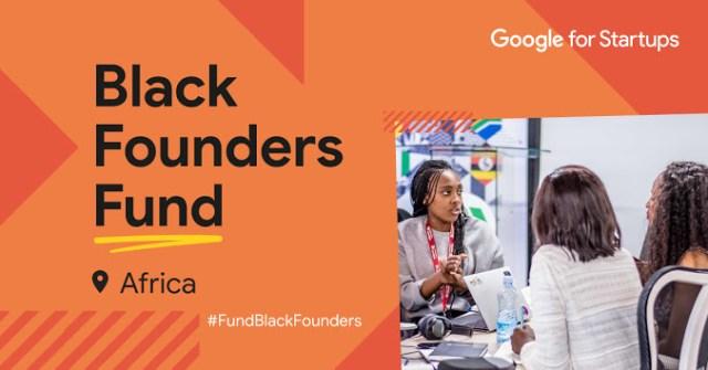 Google For Startups Black Founders Fund Africa