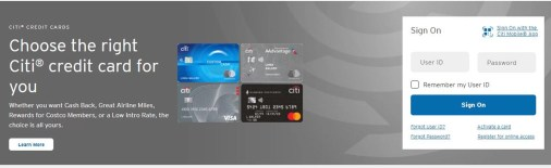 Citi Credit Card Login - How to Login to Your Citi Credit Card Online