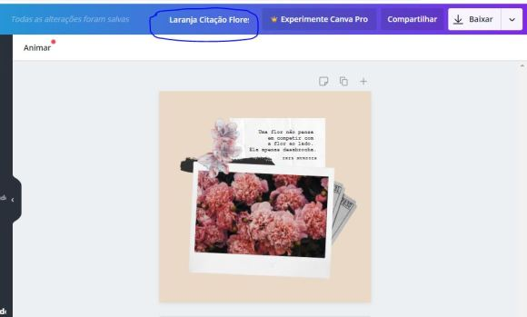 Salvar imagem canva no computador, celular ou notbook