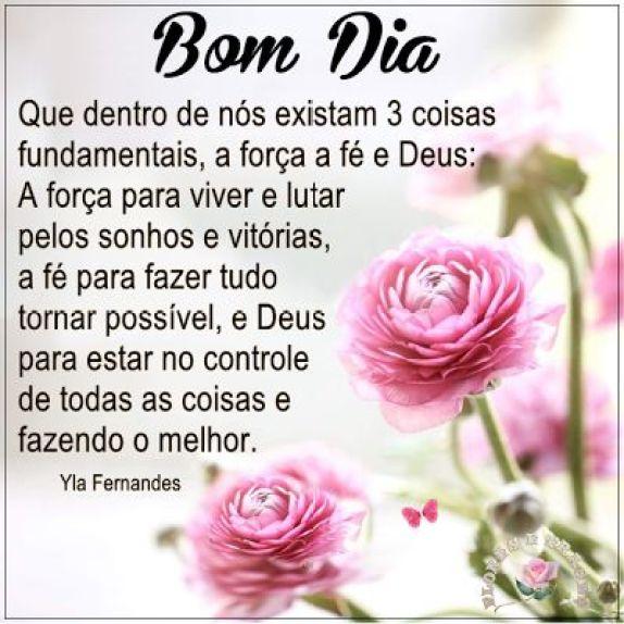 Bom dia, acorde com força,fé e Deus no coração
