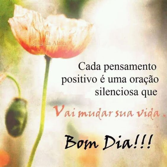 Cada pensamento positivo é uma oração silenciosa que vai mudar sua vida.