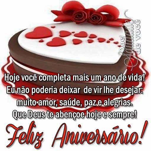 Feliz aniversário, que Deus te abençoe