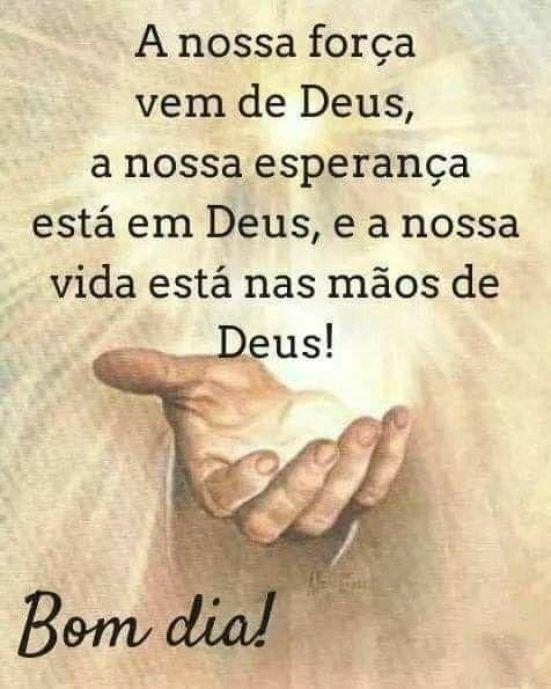 Nossa vida está nas mãos de Deus