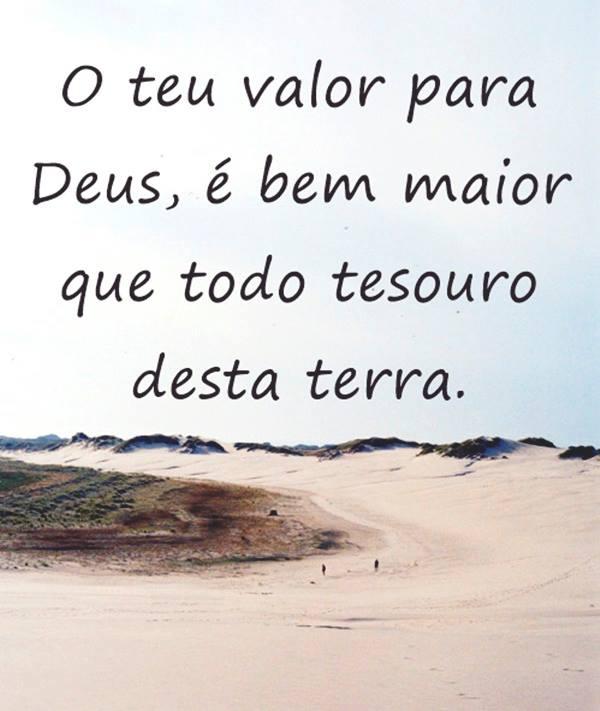 O teu valor para Deus é bem maior