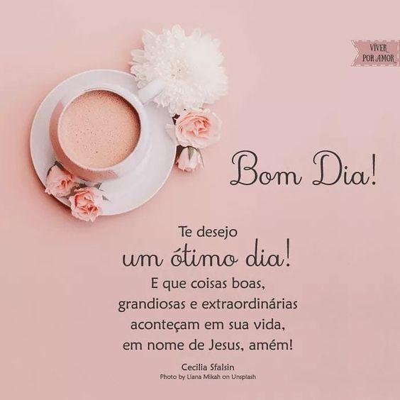 Te desejo um ótimo dia!Eque coisas boas, grandiosas e extraordinárias aconteçam.