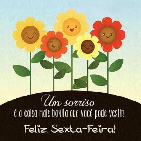 Um sorriso é a coisa mais bonita que você pode vestir. feliz sexta-feira