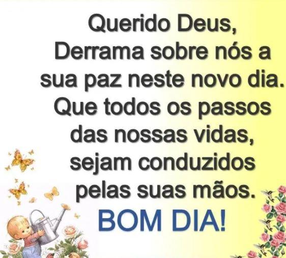 Bom dia de paz e Deus!