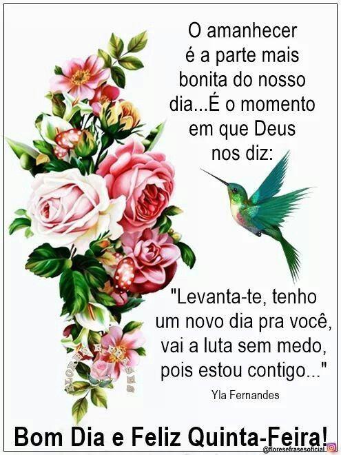 Com as bênçõas de Deus em nossa vida, bom dia quinta feira!