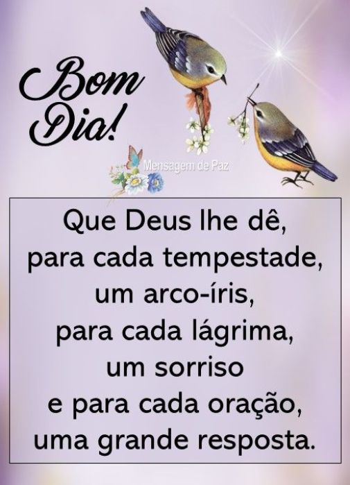 Paz bom dia com Deus