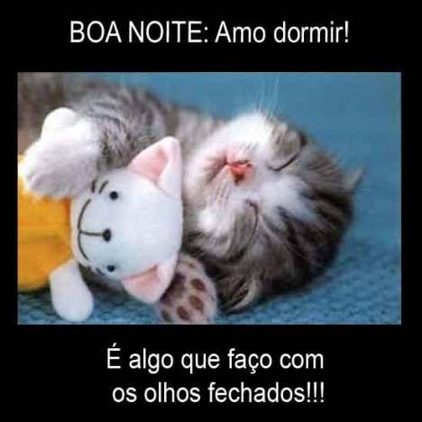 Amo dormir boa noite