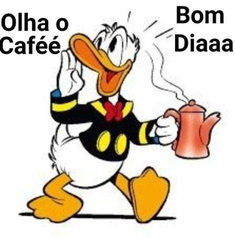 Desenho bom dia com café