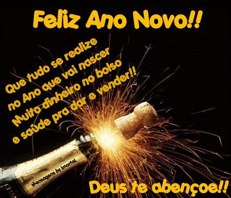 Feliz ano novo, Deus abençoe