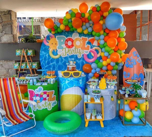 pool party decoração.