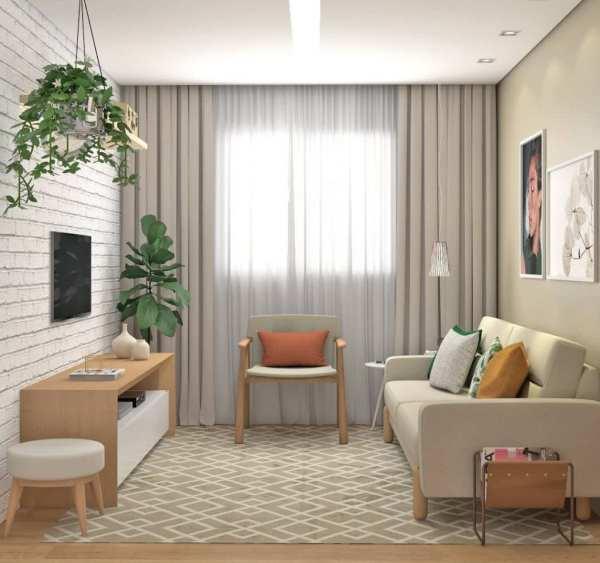 Decoração linda sala de estar.