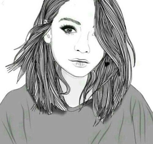 Desenho girl tumblr;