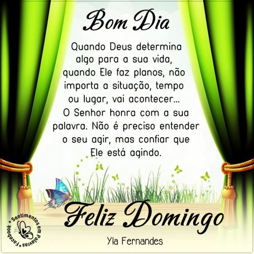 Domingo Feliz com Deus