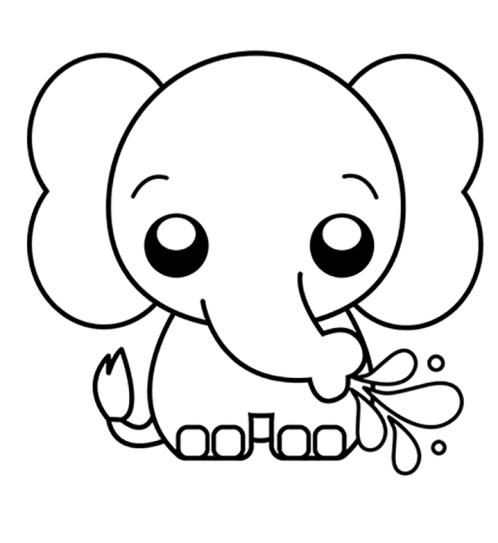 Elefante tumblr e fofo.