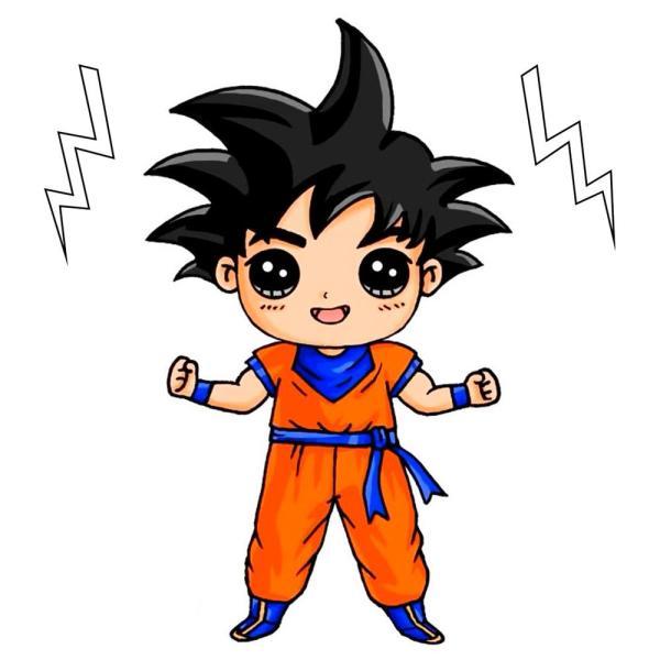 Goku desenho fácil e simples.