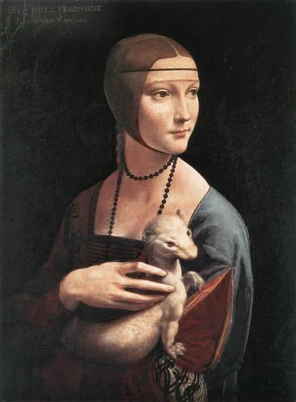 A dama de arminho de Da Vinci.