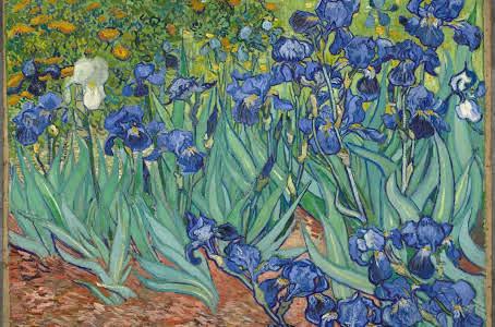 Lirios pintura de Van Gogh