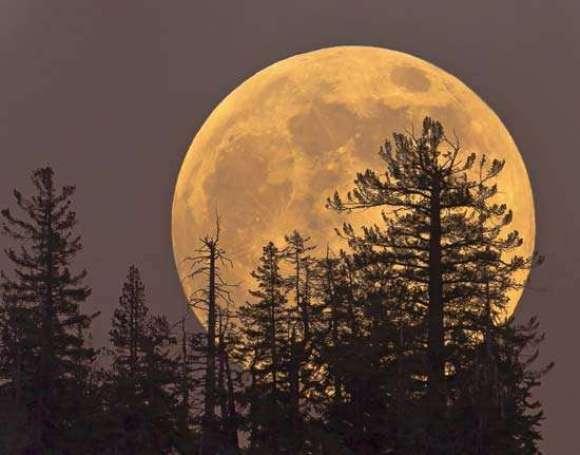 a mais perto possível  da lua.
