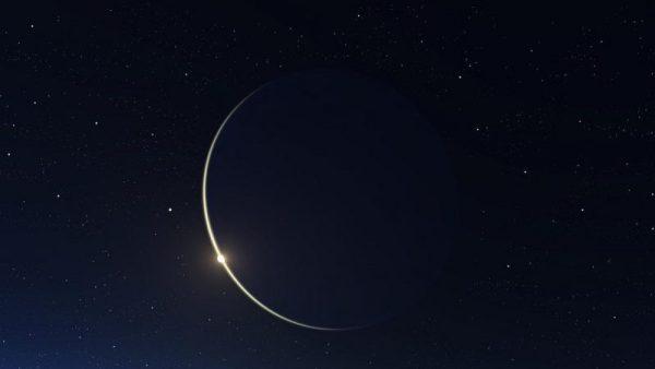 lua nova embeleza o céu