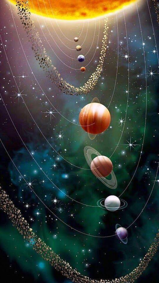 papel de parede, planetas