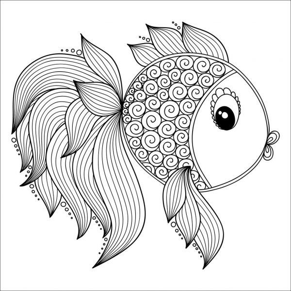 Um peixinho para pintar.