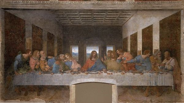 A ultima ceia de Da Vinci.