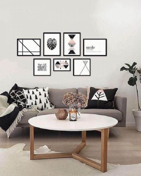 Linda sala de estar decoração perfeita.
