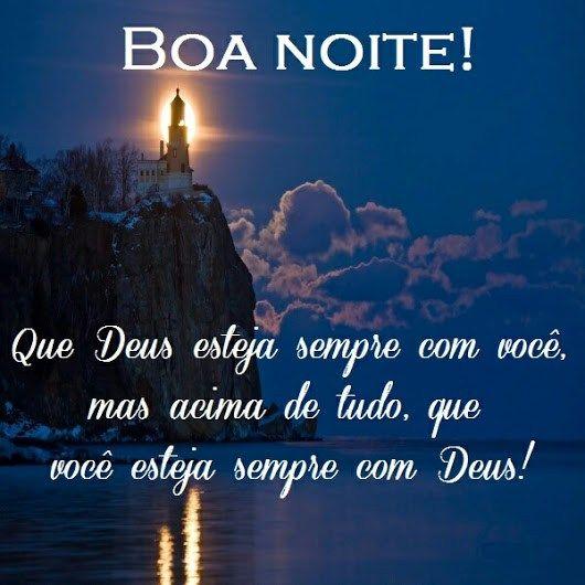 Boa noite Deus esteja com você
