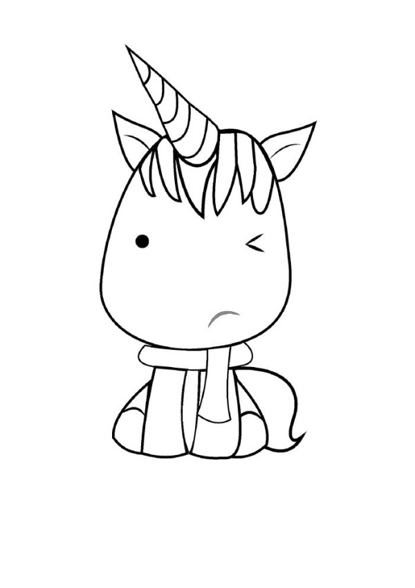 Desenho fofo de unicórnio.