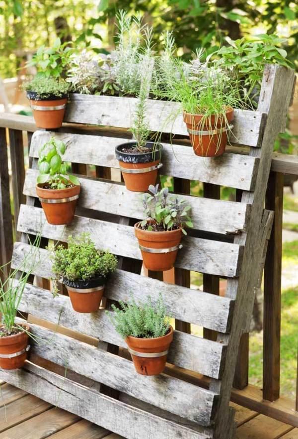 decoração de jardim suspenso