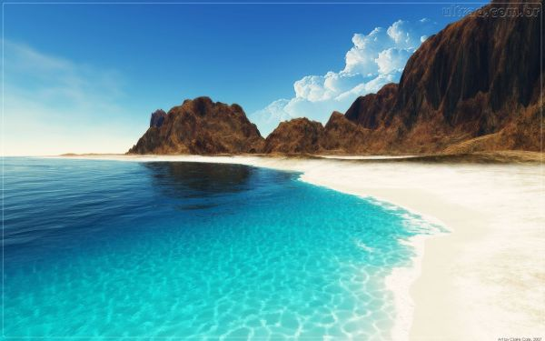Paisagem maravilhosa do mar.