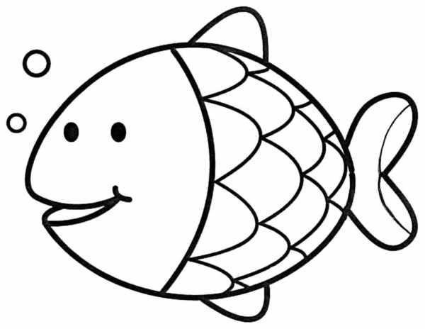 Peixinho para colorir infantil