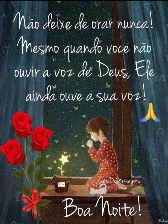 boa noite orando