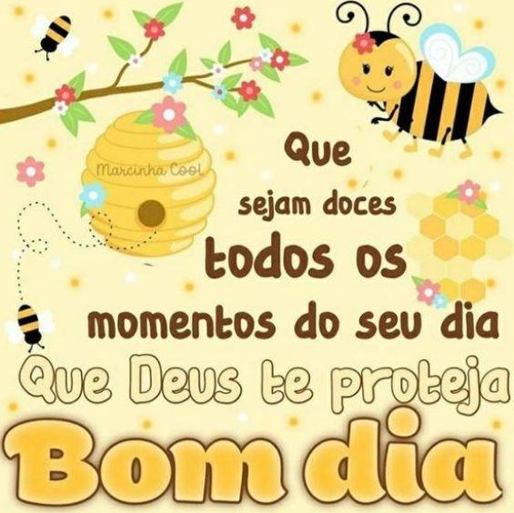 Mensagens bom dia  bonito e doce como as abelhas