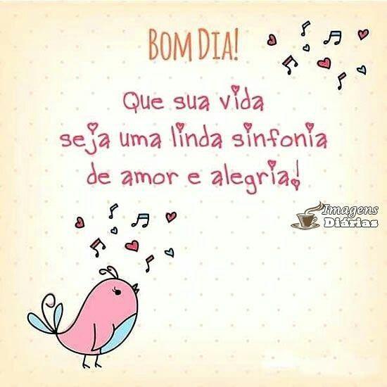 Bom dia de amor e alegria