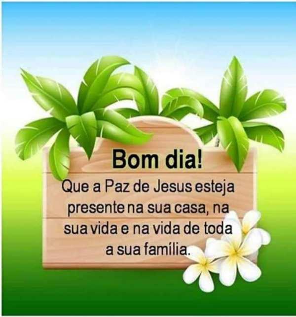 Bom dia na paz do senhor Jesus