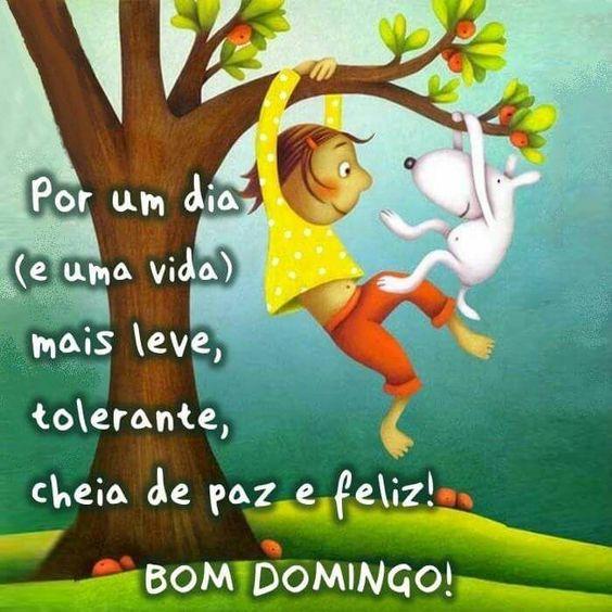 Bom domingo cheio de paz e feliz