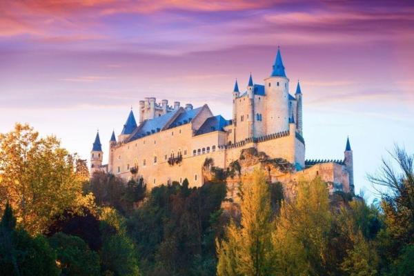 bela paisagem e um castelo