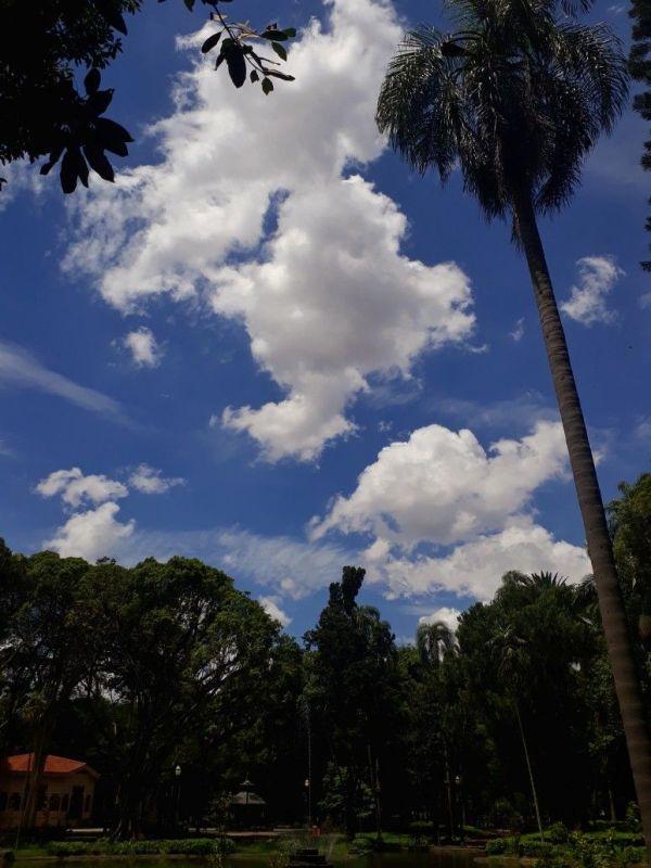 ao claro da paisagem céu