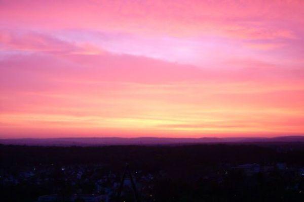 paisagem do céu rosa