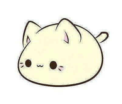 Desenho fofo de um gatinho.