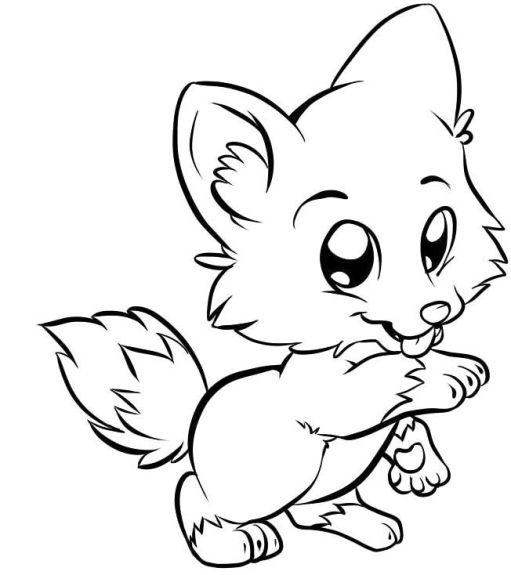 Desenho da raposinha linda.