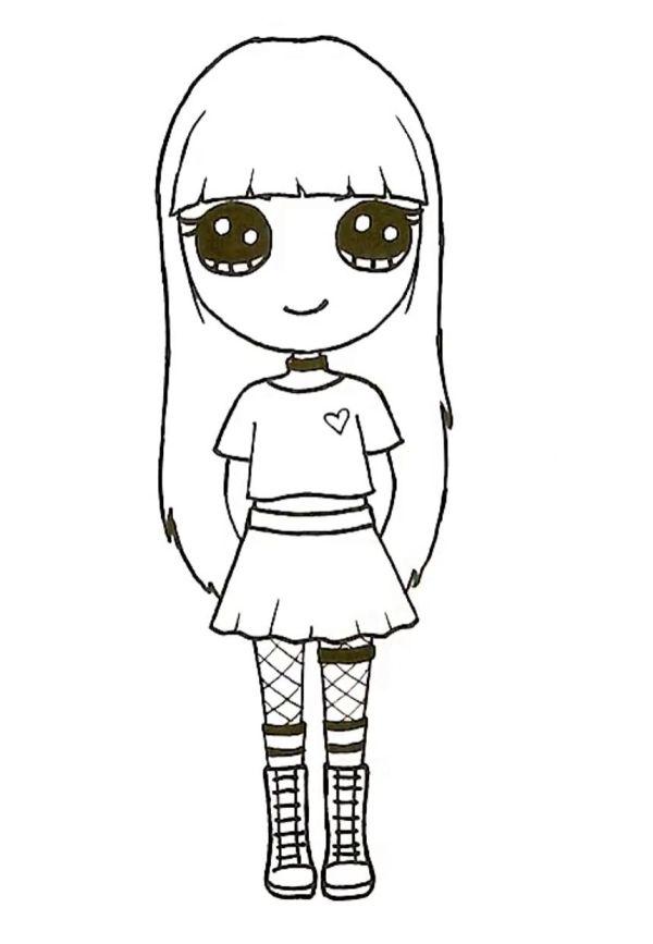 Desenho perfeito para meninas.