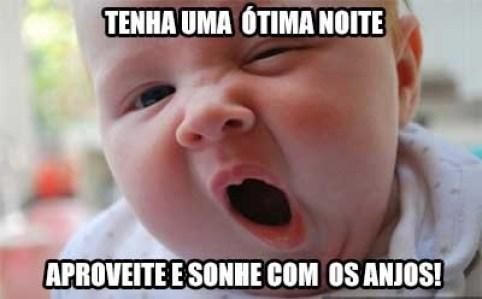 bebê piada de boa noite