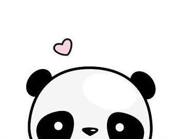 Desenho fofo do panda.