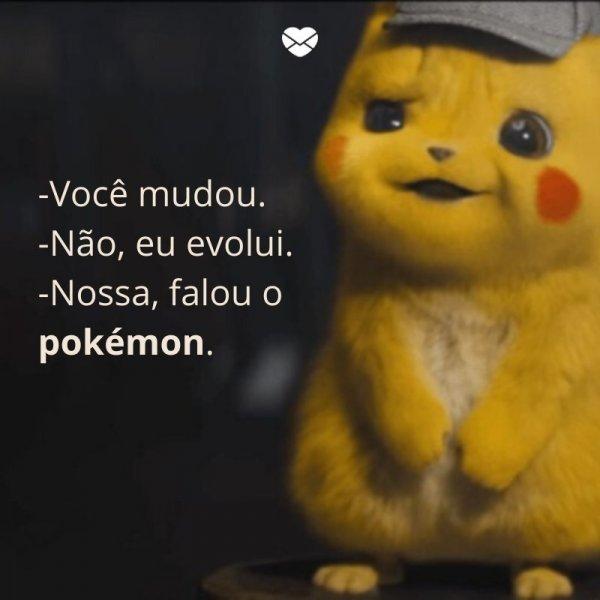 Pokémon frase engraçada.